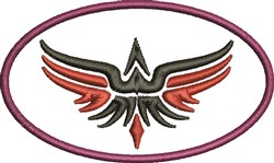 Abstract Eagle Circle embroidery design