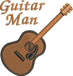 Guitar Man embroidery design