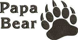 Papa Bear embroidery design