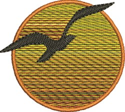 Bird and Sunset embroidery design
