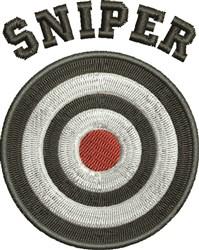Sniper embroidery design