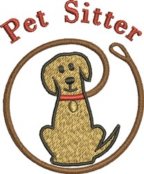 Pet Sitter embroidery design
