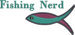 Fishing Nerd embroidery design