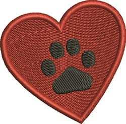 Heart and Paw embroidery design