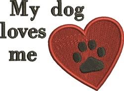 Dog Loves Me embroidery design