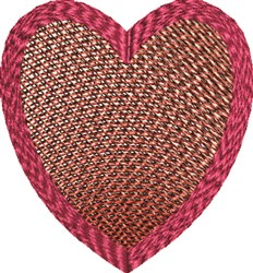 Contour Heart embroidery design