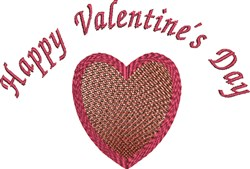 Happy Valentine embroidery design