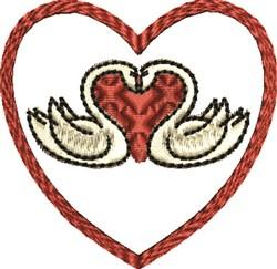 Valentine Swans embroidery design