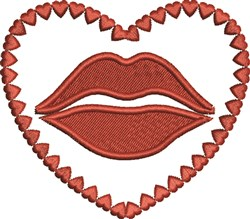 Lips In Heart embroidery design