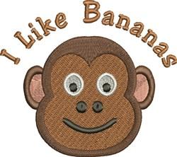 I Like Bananas embroidery design
