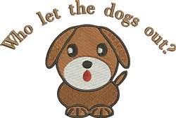 Let Dog Out embroidery design