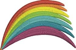 Rainbow Swoosh embroidery design