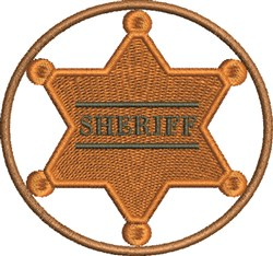 Sheriffs Badge embroidery design