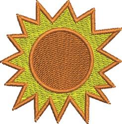 Simple Sun embroidery design