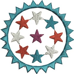 Spike Circle Stars embroidery design