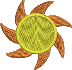 Spinning Sun embroidery design