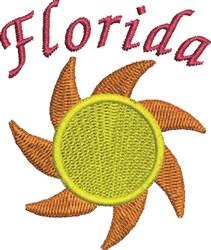 Florida Sun embroidery design