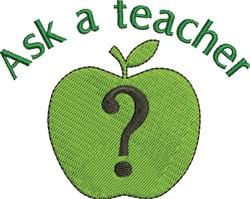Ask A Teacher embroidery design