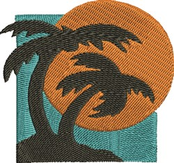 Tropical Sunset embroidery design
