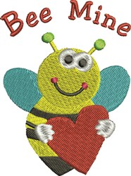 Bee Mine embroidery design