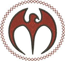 Circle Bird embroidery design