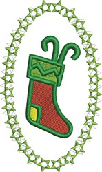 Holiday Stocking embroidery design