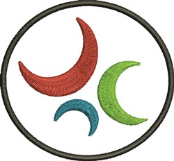 Crescents In Circle embroidery design
