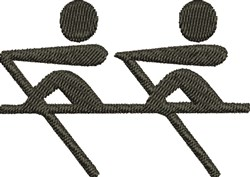 Rowing Team embroidery design