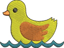Duck in Water embroidery design