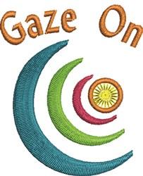 Gaze On embroidery design