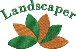 Landscaper embroidery design