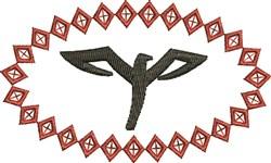 A Hawk embroidery design
