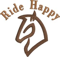 Ride Happy embroidery design