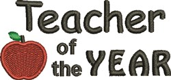 Teacher Of The Year embroidery design