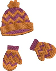 Hat and Mittens embroidery design