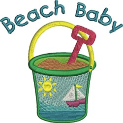 Beach Baby embroidery design