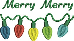 Merry Merry embroidery design