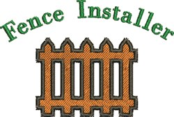 Fence Installer embroidery design