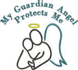 My Guardian Angel embroidery design