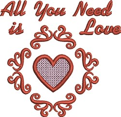 Need Love embroidery design