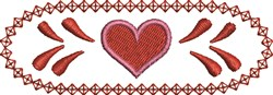 Heart and Border embroidery design
