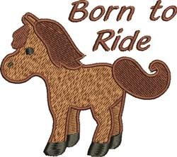 Born To Ride embroidery design