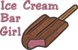 Ice Cream Girl embroidery design