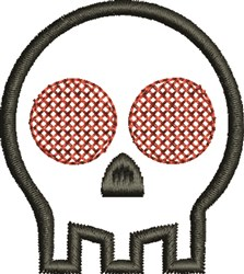 Skull Red Eye embroidery design