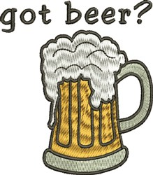 Got Beer? embroidery design