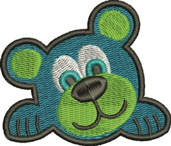 Blue Bear embroidery design
