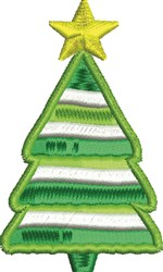 Star Tree embroidery design