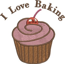 Love Baking embroidery design