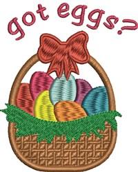 Got Eggs? embroidery design