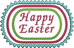 Easter Saying embroidery design